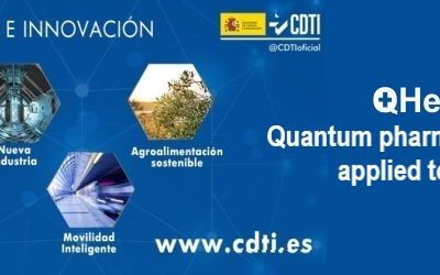 """The project """"QHealth: Quantum Pharmacogenomics Applied to Aging"""", led by aQuantum, receives a 3.67 million euro grant from the CDTI Missions 2020"""