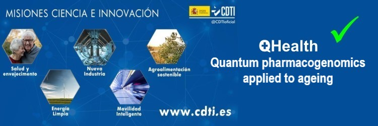 "The project ""QHealth: Quantum Pharmacogenomics Applied to Aging"", led by aQuantum, receives a 3.67 million euro grant from the CDTI Missions 2020"