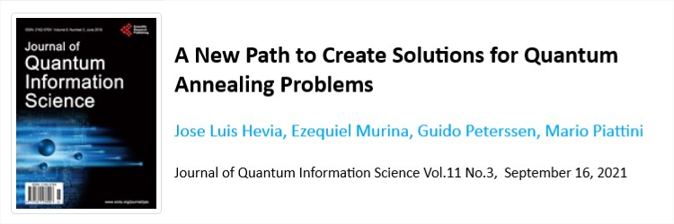 """Posted a new aQuantum article: """"A new path to create solutions for Quantum Annealing problems"""""""